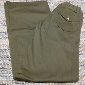 Joie Wide Leg Olive Green Cotton blend pants Sz 0